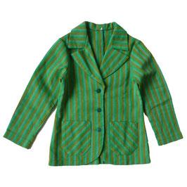 Jacke für Mädchen 70s grün gestreift 7-8 Jahre