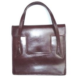 Kleine Tasche mit Henkel Leder rehbraun 40s