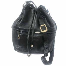 Tasche Leder schwarz Bucket ENNY Italy VINTAGE 1990s