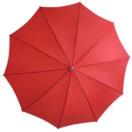 Schirm Damenschirm uni rot VINTAGE 1960s mit Futteral