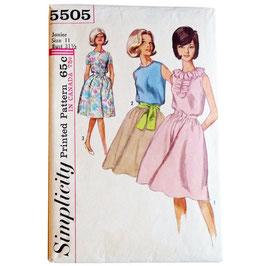 Schnittmuster Kleid SIMPLICITY 60s Taillennaht Gr. S/M