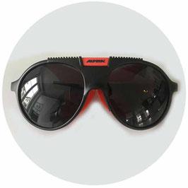 Skibrille Sportbrille ALPINA orange VINTAGE 1970s