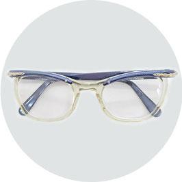Brillenfassung VINTAGE 50s Alubügel blau ZYLITE ALU