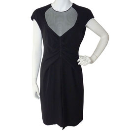 Kleid Giorgio Armani VINTAGE 1990s Seide little black dress Gr. S/M