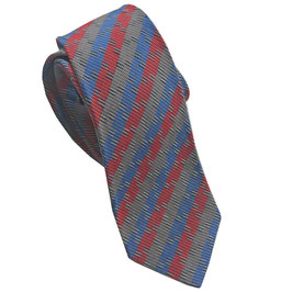 Krawatte MISSONI rot-blau VINTAGE 1990s Seide