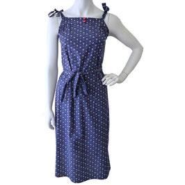 Kleid Sommerkleid VINTAGE 1960s Bindeträgern dunkelblau Blümchen S/M