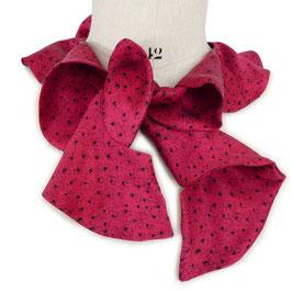 Godet-Schal scarf Seide by Silvia-K rot mit feinem Muster