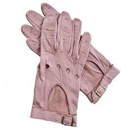 Handschuhe Gr. M Leder hell rosa Cabriohandschuhe VINTAGE 1980s