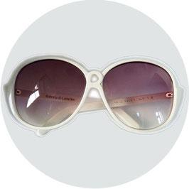 Sonnenbrille Roberta di Camerino Designer weiss VINTAGE 1980s