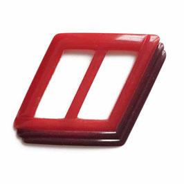 Gürtelschnalle rot-dunkelrot rhombenförmig leicht