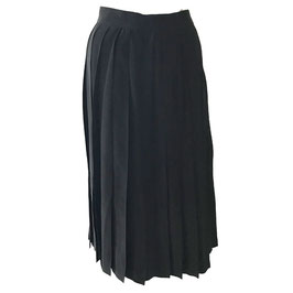 Wickeljupe Gr. S Plissee Wrap skirt Seide schwarz Italy VINTAGE 1980s