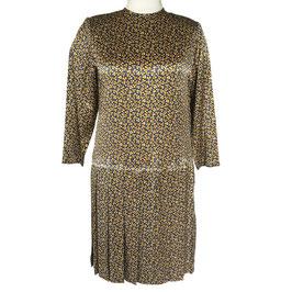 Kleid Gr. XL Seidensatin LIHLI Couture USA Vintage 1990s