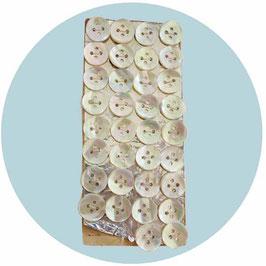 Perlmuttknöpfe  34 Stk. Lot 4 für Hemden und Blusen VINTAGE