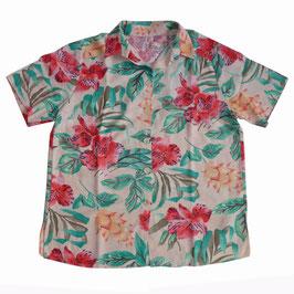Bluse Gr. XXL bunt Hawaii Damen VINTAGE