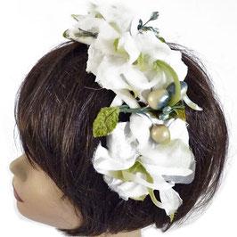 Haarschmuck Haarreif mit Blumen Brautschmuck
