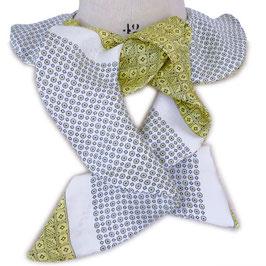 Godet-Schal scarf Seide by Silvia-K hellgelbgrün-grau