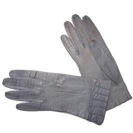 Handschuhe Gr. XS Leder grau ungefüttert VINTAGE 1960s