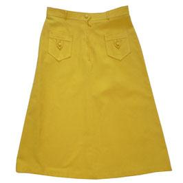 Jupe Gr. XS Baumwolle gelb VINTAGE 1960s NOS