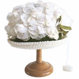 Hut weiss Blüten Deko Wedding Hochzeit VINTAGE Gr. 54
