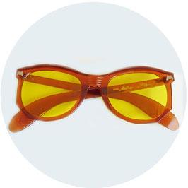Sonnenbrille Damen Herren MEIKA gelbe Gläser VINTAGE 1940s