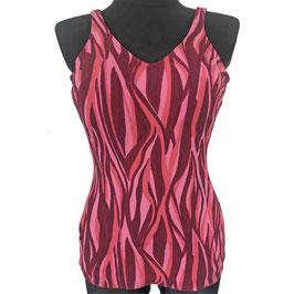 Badeanzug Gr. M/L Badekleid VINTAGE 1960s pink geflammt