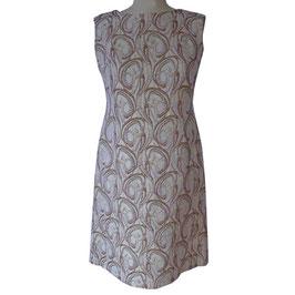 Kleid Brokat gold-silber VINTAGE 1960s Rückenausschnitt Gr. M/L