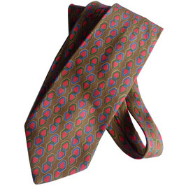 Krawatte VINTAGE Christian Dior VINTAGE 1970s Seide