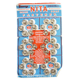 Druckknöpfe weiss 10 mm NITA Originalkarte VINTAGE 1950s