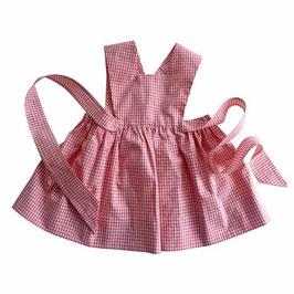 Schürzenkleidchen für Mädchen 1-2 Jahre Vichykaro rot-weiss  VINTAGE 1950s