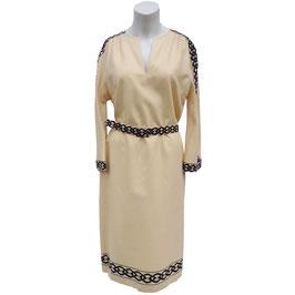 Kleid Wolle eierschale Vogue 70s Zürich Grösse M