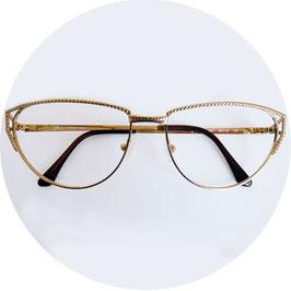 Brillenfassung Damen gold VINTAGE 1980s NOS