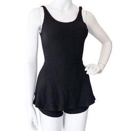 Badeanzug  Gr. S Badekleid Wolle schwarz VINTAGE 1930s