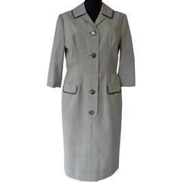 Kleid Gr. L/XL halblange Ärmel Prince-de-Galles VINTAGE 1970s