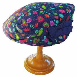 Hut Casquette Stoff Textil bunt 50s Grösse 53-55