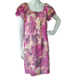 Kleid Gr. S/M Seide magenta Farbverlauf Feldpausch VINTAGE 1990s