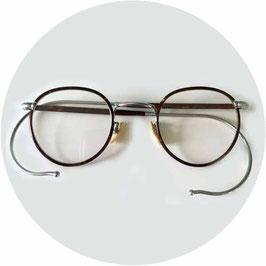 Lesebrille mit geschliffenen Gläsern VINTAGE 1920s Damen Herren