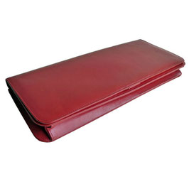 Clutch Pochette rot Leder VINTAGE 60s