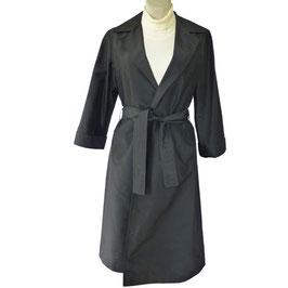 Mantel Seide JOBIS leicht schwarz VINTAGE 1970s Gr. M/L