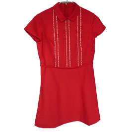 Mädchenkleid rot kA f. ca. 7-8 Jahre 50s