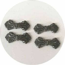 4 Metallverschlüsse für Trachtenjacke, Dirndljacke etc.