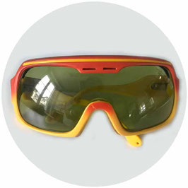 Skibrille Sportbrille UVEX orange VINTAGE 1980s
