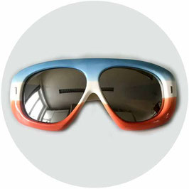 Sonnenbrille Sportbrille France blau-weiss-orange VINTAGE 1970s