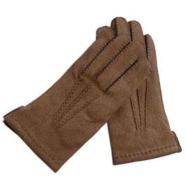 Handschuhe Gr. S Leder braun gefüttert VINTAGE 1980s NOS