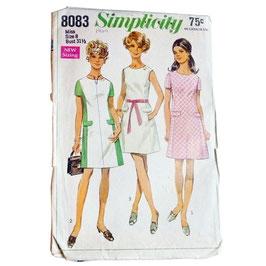 Schnittmuster Shiftkleid SIMPLICITY 70s Gr. S