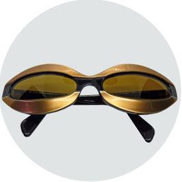Sonnenbrille HACO Sichtschlitz VINTAGE hellbraun-gold