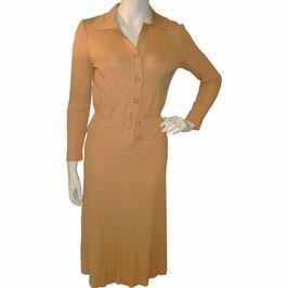 Kleid Gr. S Deux-Piece Ensemble Jersey VINTAGE 1960s moutarde