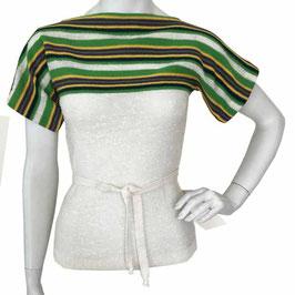 Top / Pullover Gr. S mit bunten Querstreifen oben VINTAGE 1970s