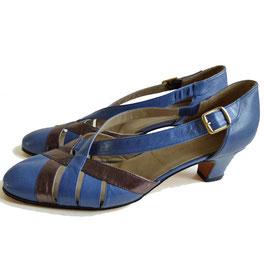 Sandaletten 80s blau-bronce alexandria 37