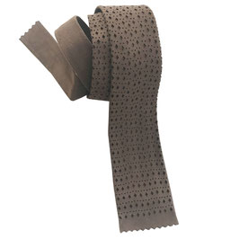 Krawatte schmal VINTAGE Leder perforiert hellbraun VINTAGE 1960s