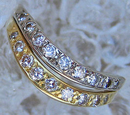 Diamantringe Goldringe 14k 585 Gold Ring Brillant Ring Diamant Schmuck Damenring